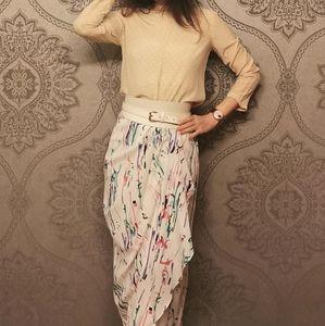 Zara 100% silk Polka Dot blouse